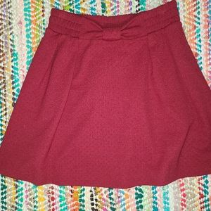 LC bow skirt with pockets